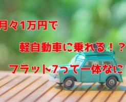 軽自動車 カーリース フラット7